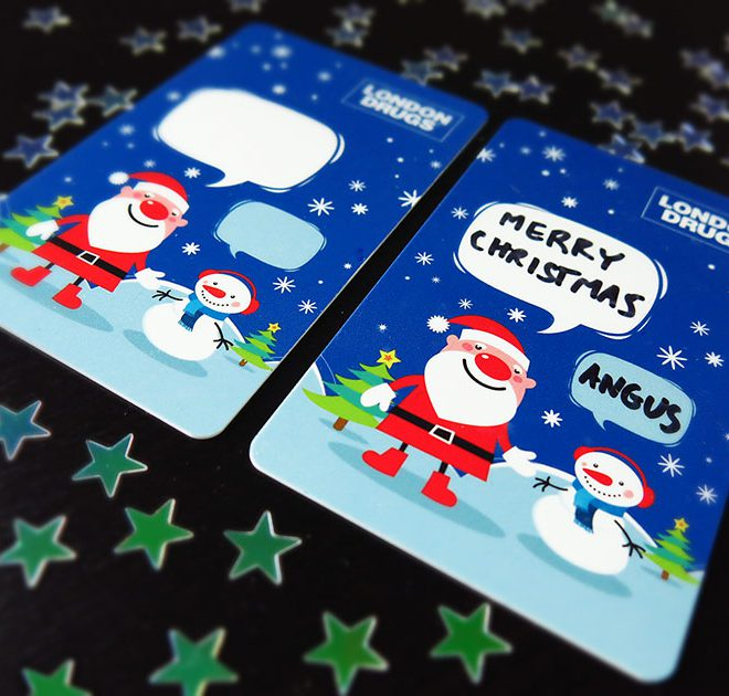 London Drugs Holidays Gift Card Design